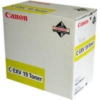 Toner 0400B002 pour CANON ImagePress C1 Toner Yellow Type CEXV19, 16 000 copies