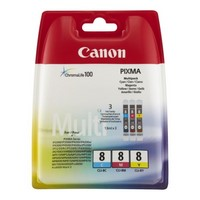 Pack de 3 Cartouches d'Encre:<br>1 Cyan<br>1 Magenta<br>1 Yellow,