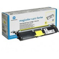 Toner 1710589001 pour KONICA MINOLTA Magicolor 2430DL Toner Yellow, 1 500 copies