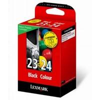 Pack de 2 Cartouches d'Encre:<br> 1 Noire n°23 <br> 1 Couleur n°24,