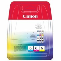 Pack de 3 Cartouches d'Encre n°6 BCI6C/M/Y:<br> Cyan<br> Magenta<br> Yellow,