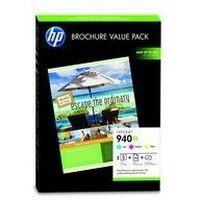 Pack de 3 Cartouches d'Encre 940XL:<br>1 Cyan<br>1 Magenta<br>1 Yellow<br> 100 feuilles A4 papier glacé 180 gr