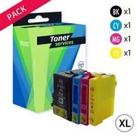 Pack de 5 Cartouches d'Encre XL:<br>2 Noires <br>1 Cyan<br>1 Magenta<br>1 Yellow,