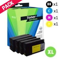 Pack de 4 Cartouches d'Encre:<br>1 Noire<br>1 Cyan<br>1 Magenta<br>1 Yellow,