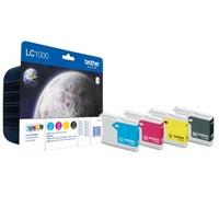 Pack de 4 Cartouches d'Encre:<br>1 Noire LC1000BK<br>1 Cyan LC1000C<br>1 Magenta LC1000M<br>1 Yellow LC1000Y,