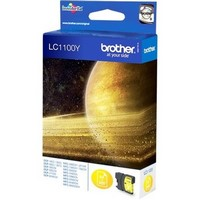 Cartouche LC1100Y pour BROTHER DCP 395CN Cartouche d'Encre Yellow, 325 copies