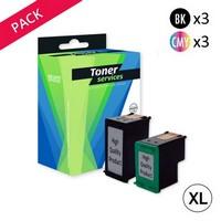 Pack de 6 Cartouches d'Encre XL:<br> 3 Noires XL<br> 3 Couleurs XL,