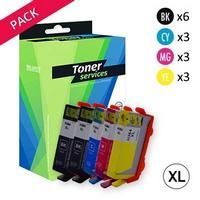 Pack de 12 Cartouches d'Encre:<br> 3 Noires XL<br> 3 Cyan XL<br> 3 Magenta XL<br> 3 Yellow XL,