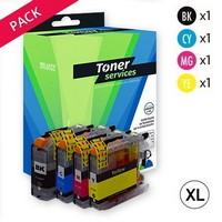 Pack de 4 Cartouches d'Encre XL:<br>1 Noire XL<br>1 Cyan XL<br>1 Magenta XL<br>1 Yellow XL,