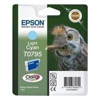 Cartouche T079540 pour EPSON Stylus Photo PX650 Cartouche d'Encre Cyan Clair (Chouette), 11 ml / 660 copies