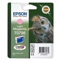 Cartouche T079640 pour EPSON Stylus Photo P50 Cartouche d'Encre Magenta Clair (Chouette), 11 ml / 930 copies