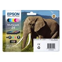Pack de 6 Cartouches d'Encre Claria Elephant:<br>1 Noire<br>1 Cyan<br>1 Magenta<br>1 Yellow<br>1 Cyan Clair<br>1 Magenta Clair,