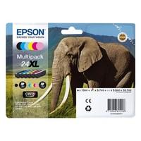 Pack de 6 Cartouches d'Encre XL Claria Elephant:<br>1 Noire<br>1 Cyan<br>1 Magenta<br>1 Yellow<br>1 Cyan Clair<br>1 Magenta Clair,