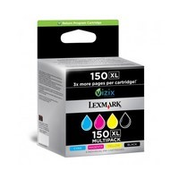 Pack de 4 Cartouches d'Encre:<br> 1 Noire n°150 XL ,<br> 1 Cyan n°150 XL,<br> 1 Magenta n°150 XL,<br> 1 Yellow n°150 XL,