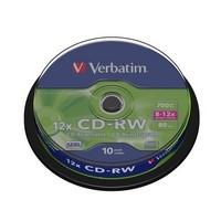 Boite de 10 CD-RW 80 min 12 x 700MB,