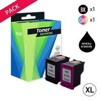 Pack de 2 Cartouches d'Encre XL:<br>1 Noire XL<br>1 Couleur XL,