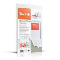 Kit pour relieuse thermique  PB200-70 (20 documents):<br> 5 Reliures de 1,5 mm<br>5 Reliures de 3 mm<br>5 Reliures de 4 mm<br>5 Reliures de 6 mm<br>Couleur: Blanc