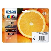 Pack de 5 Cartouches d'Encre Orange XL : <br>1 Noire XL <br>1 Noire Photo XL<br>1 Cyan XL<br>1 Magenta XL<br>1 Yellow XL,