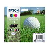 Pack de 4 Cartouches d'Encre Balle de Golf<br>1 Noire<br>1 Cyan<br>1 Magenta<br>1 Yellow,