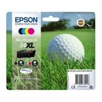 Pack de 4 Cartouches d'Encre XL Balle de Golf:<br>1 Noire XL, <br>1 Cyan XL <br>1 Magenta XL<br>1 Yellow XL,